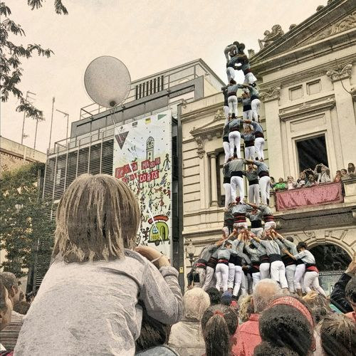 The illusion of a child. Castellers Kids Barcelona Illusion