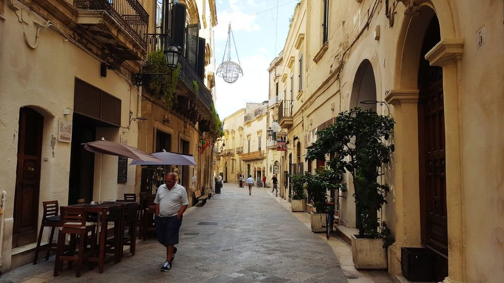 EyeEm Selects Full Length Architecture Walking Building Exterior Built Structure People Travel Destinations One Person Men City Lecce Lecce City Lecce - Italia