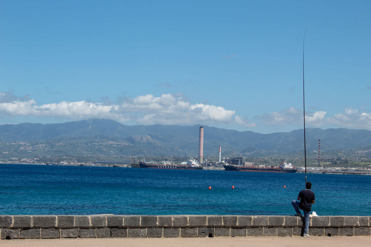 A fisherman on the milazzo waterfront
