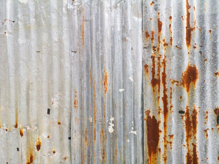 Full frame shot of old rusty corrugated iron