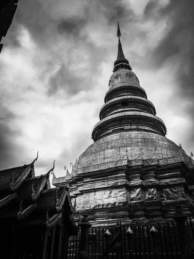 Architecture Religion Built Structure Spirituality Place Of Worship Sky Building Exterior History Low Angle View Travel Destinations Cloud - Sky Day No People Ancient Outdoors Ancient Civilization Thailand Temple