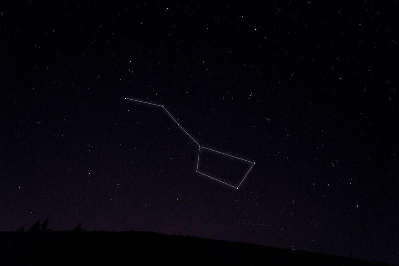 Night Hoher Freschen Laterns Sky Stars Asterisk Star Sign Ursa Major Großer Wagen Nature Photoshop Sony Alpha 58