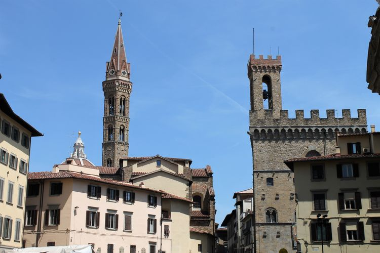 Architecture Building Exterior Built Structure City Cityscape Clock Tower Day Florence Italy Frainf History No People Outdoors Place Of Worship Representing Sky Tower Travel Destinations