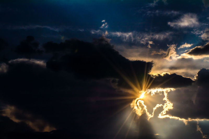 Atmosphere Atmospheric Mood Beautiful Nature Cloud Cloud - Sky Cloudscape Cloudy Dramatic Sky Dusk Evening Sky Evening Sun Glowing Light Majestic Moody Sky Outdoors Power In Nature Silhouette Sky Storm Cloud Subshine Sun Rays Sunset Sunset_collection Yellow