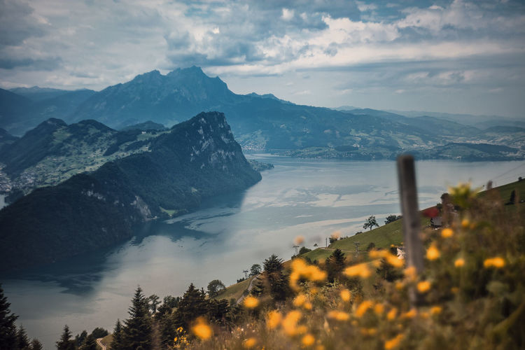 Beauty In Nature Bürgenstock Cloud - Sky Day Landscape Mountain Mountain Range Nature No People Outdoors Scenics Sky Swiss Swiss Alps Swiss Mountains Swissalps Tranquil Scene Tranquility Travel Destinations Tree Vierwaldstättersee