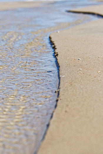 Back to the ocean Water Beach Land Sand No People Day Sea Nature Close-up Outdoors Landscape Macro River Fluss Ocean Meer Coast Coastline Lines Leading Lines Küste Nordsee Insel