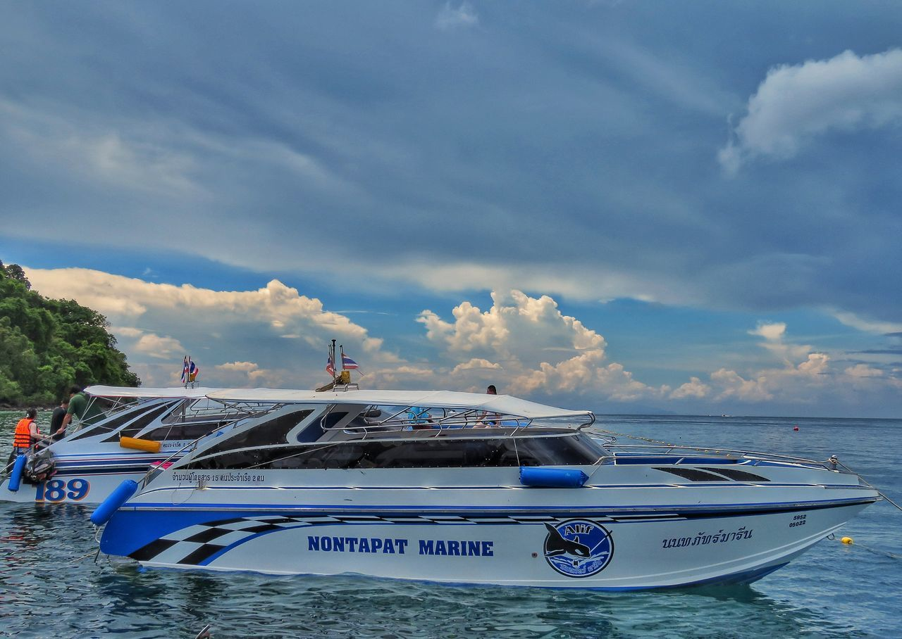 nautical vessel, transportation, sky, cloud - sky, mode of transport, sea, outdoors, day, no people, moored, nature, water, yacht