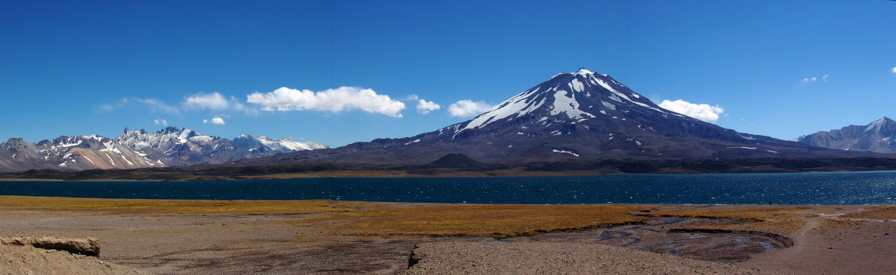Beauty In Nature Blue Day Laguna Del Diamante Laguna Verde Landscape Mountain Mountain Peak Mountain Range Nature No People Outdoors Scenics Sky Snow Tourism Travel Travel Destinations Vacations Water