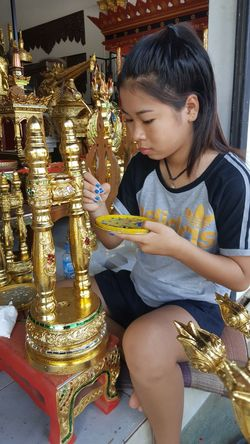 ArtWork Gold Colored Arts Culture And Entertainment Cultures Temple Architecture Arts And Crafts Artgallery Handicraft Work