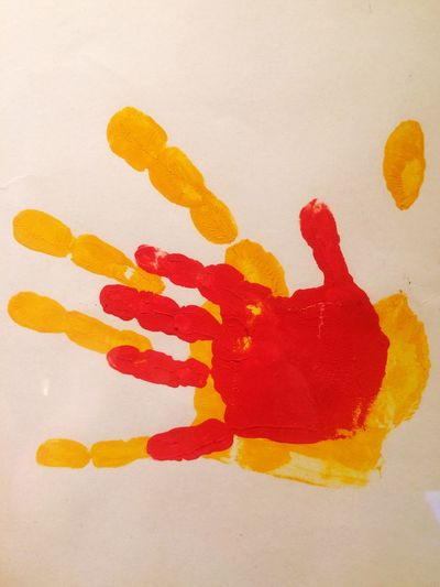 Love Thrue Family Red Art And Craft Yellow Paint Creativity Multi Colored Indoors