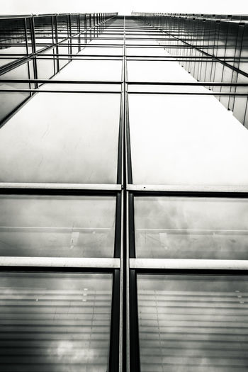 EOS Graphic Poland Warsaw Warsaw Poland Warszawa  Architecture Blackandwhite Building Exterior Built Structure Canon Canonphotography Directly Below Glass - Material Low Angle View Metal Modern Office Building Exterior Outdoors Pattern Reflection Steel Window