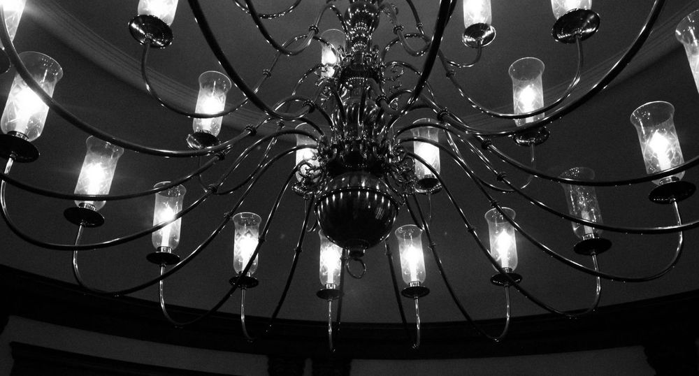 Always falling in love with inanimate objects Blackandwhite Lighting Equipment Ceiling Illuminated Low Angle View Indoors  Hanging Electricity  Light Chandelier No People Decoration Electric Light Glowing Close-up Luxury Night Wealth Light - Natural Phenomenon