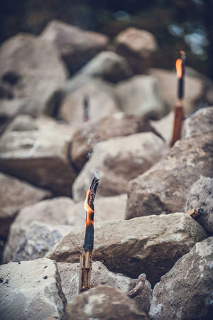Adventure Day Full Length Mountain Nature Natursteinpark Outdoors Rock - Object Rock Climbing Torches