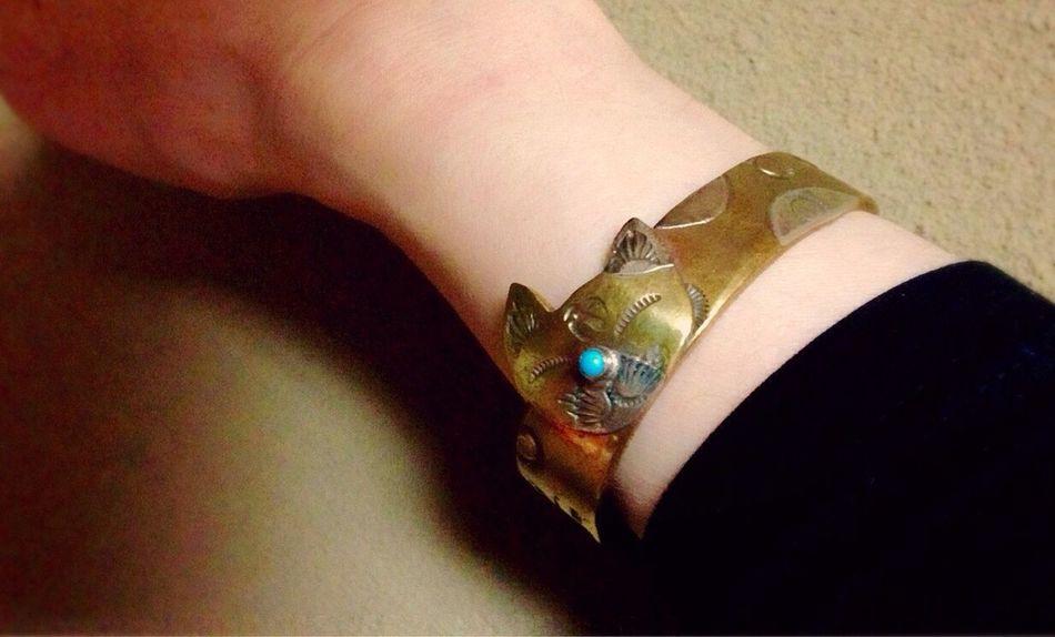 猫好き❤︎友から貰ったブレス Cat Lovers Bracelet ♥ Present Treasured Article Memory 猫の日😻