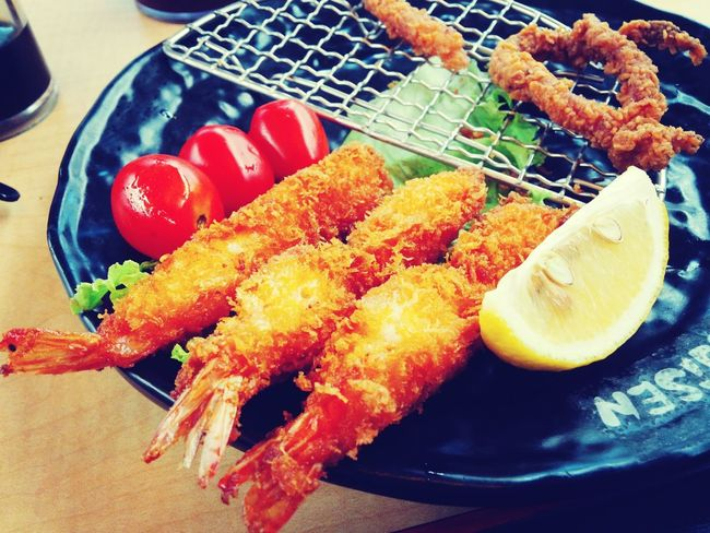China Photos Japanese Food Shrimp Lunchtime Traveling