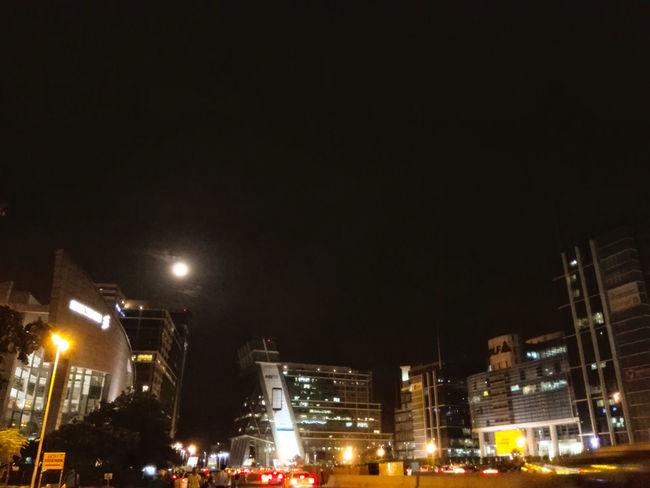 My City Night Life Life In A Metro Here Belongs To Me Yudhvir New Delhi, NCR Full Moon Night