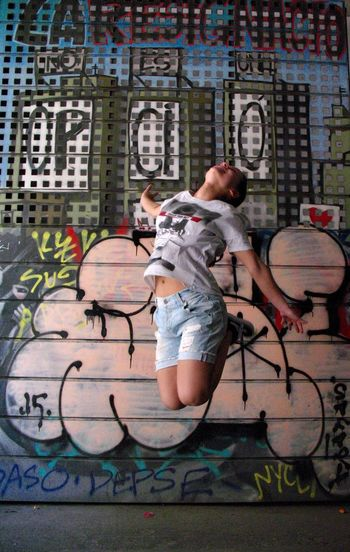 Barcelona, Spain Photooftheday Photography In Motion Graffiti Art Graffiti Photoshoot Photographer Jumping Shot Girl