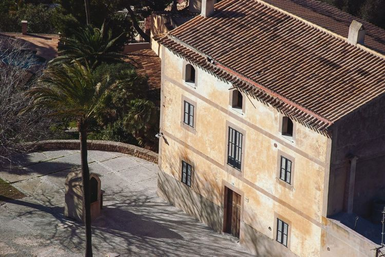 Mallorca house House SPAIN Mallorca Balearic Islands Village Spanish Architecture Built Structure Building Exterior Building Tree Plant Day No People Sunlight House Outdoors High Angle View