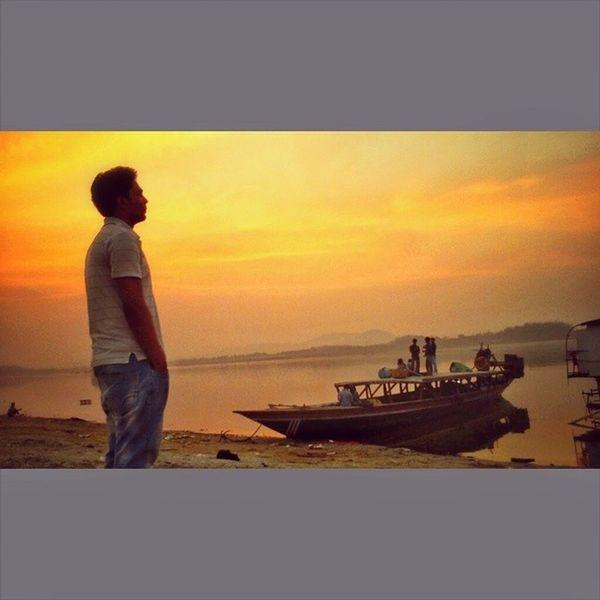 Brahmaputra_ghat Sunset