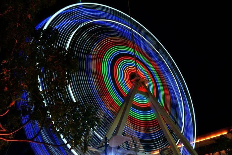 Swinging Light Piratepark Malacca Malaysia Nightphotography Enjoying Life Memory Moments