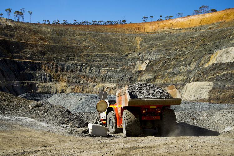 Truck from Underground Mine Mine Underground Mine Underground Truck Mining Open Pit