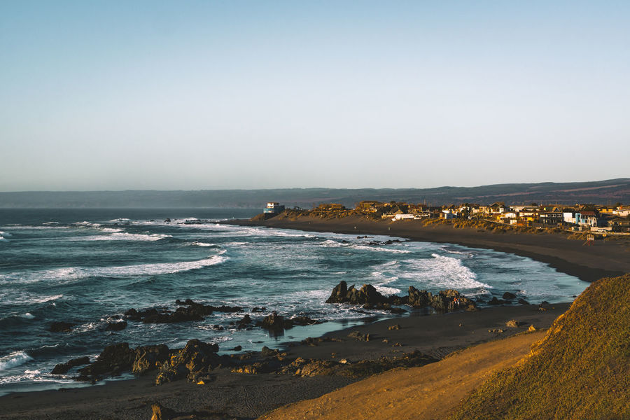 Surf vibes in Pichilemu, Chile. Latin America Nature Surf Travel Wave Beach Day Horizon Over Water Landscape Moody No People Ocean Outdoors Rocks And Water Sand Scenics Sea Seascape South America Sun Surfing Town Travel Destinations Water Wave