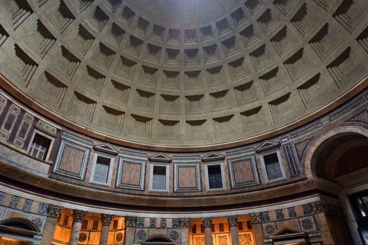 Inside the Pantheon. Roma, Italy Ancient Roman Architecture Architecture_collection Dome Italian Italy Italy❤️ Pantheon Roma Rome Rome Italy Travel Travel Photography Travelphotography