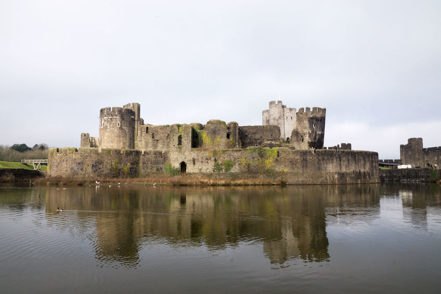 Architecture Building Exterior Built Structure Castle Day History Medieval Old Ruin Reflections In The Water Wales Water Neighborhood Map