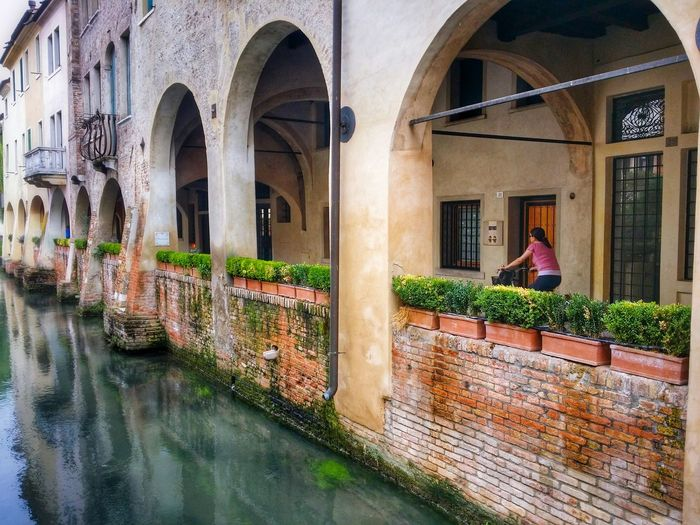 Canale Dei Buranelli Treviso Veneto Italy Travel Photography Travel Voyage Traveling Mobile Photography Fine Art Photography Canals Water Flows Architecture Historical Buildings Arcades