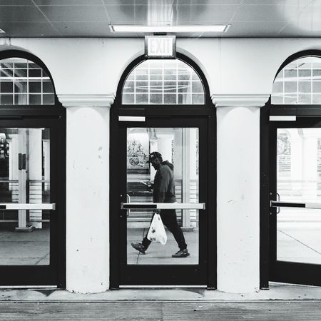 Passing. Street Streetphotography Public Transportation Blackandwhite