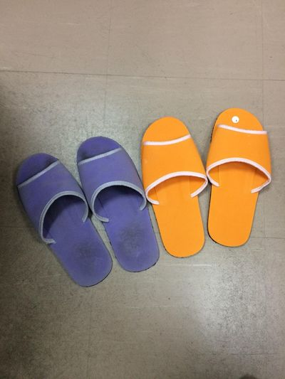 couple shoes Shoes Orange Orange Color EyeEm Selects High Angle View No People Still Life Orange Color Shoe Flooring Pair Side By Side Purple Directly Above Indoors  Close-up Fashion Day Personal Accessory Group Of Objects Nature Absence Glasses Seat