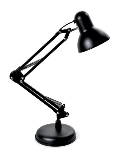 Desktop lamp, black design lamp, isolated on white background. Desktop Isolated Black Black Color Black Lamp Close-up Copy Space Cut Out Design Design Lamp Desktop Lamp Indoors  Isolated On White Isolated White Background Lamp Metal No People Single Object Still Life Studio Shot Style Table Lamp White Background
