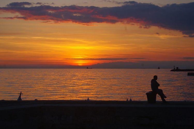 Sunset Trieste Italy Trieste Triestemonamour TriesteSocial Triesteraccontatrieste Triestephotodays Trieste, Italy Trieste_streetlife Triestestreetlife