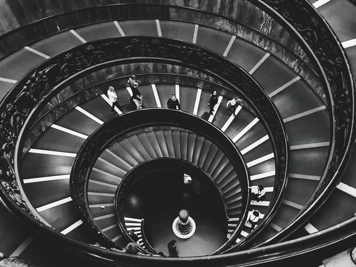 Black And White Friday Vatican VaticanCity Vatican Museum Architecture Steps And Staircases Steps Spiral Stairs Full Length Spiral Stairs The Architect - 2018 EyeEm Awards