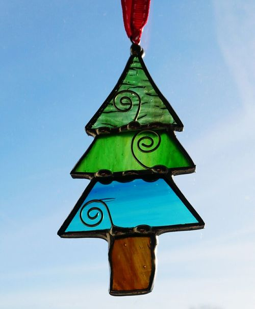 No People Close-up Decorations 🎭 Tree Sky Coloured Glass Christmas Decoration Stained Glass