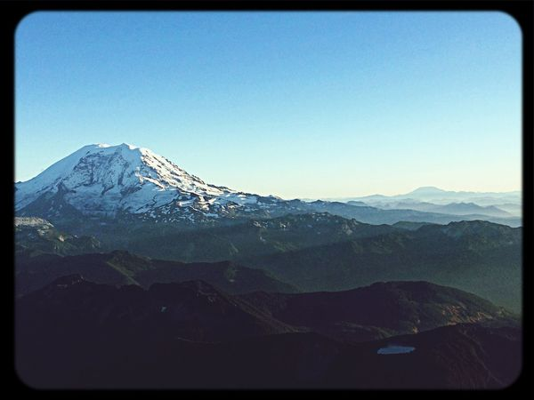 Mt Rainier On a clear blue day RV8 Flying Nature Mountain
