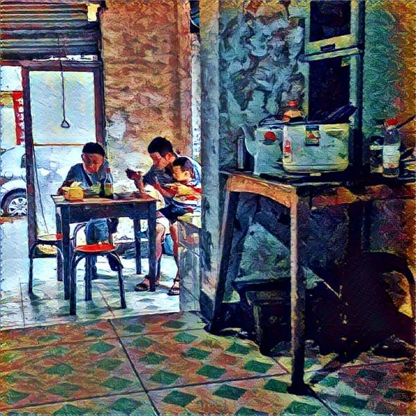 Colour Of Life Colorphotography Evrybody Street Streetphotography Mirrorless Pastel Faces Of EyeEm Eye4photography  I Love My City Faces Of The World I Like My City Everybodystreet People Together Having Breakfast Family Time Prisma App Prisma Art
