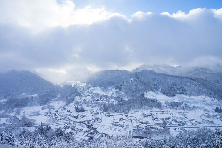 Mountain Winter Scenics - Nature Sky Snow Cloud - Sky Beauty In Nature Landscape Environment Cold Temperature Nature Mountain Range Tranquil Scene Tranquility No People Day Non-urban Scene Architecture Outdoors Snowcapped Mountain