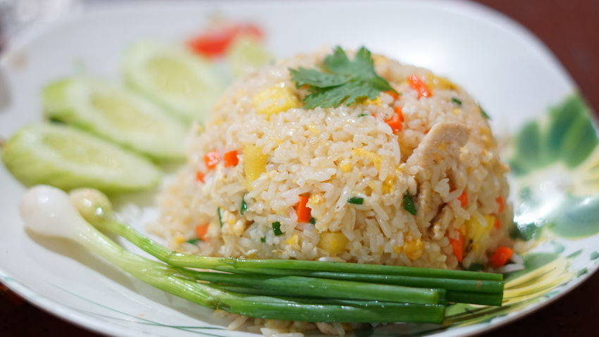 Fried rice with pork Thailand Cousine  City Gourmet Seafood Cooked Plate Sashimi  Chinese Food Rice - Food Staple Vegetable Fried Rice