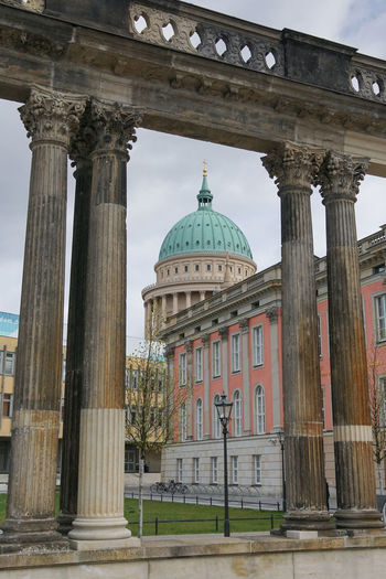 Ensemble of historic buildings, one of the famous places of Potsdam, Germany, Europe Church City Potsdam Sightseeing Travel Building Building Exterior Built Structure Day Ensemble Europe Germany No People Old Outdoors Palace Pillars Sights Tourism Town Travel Destinations Urban