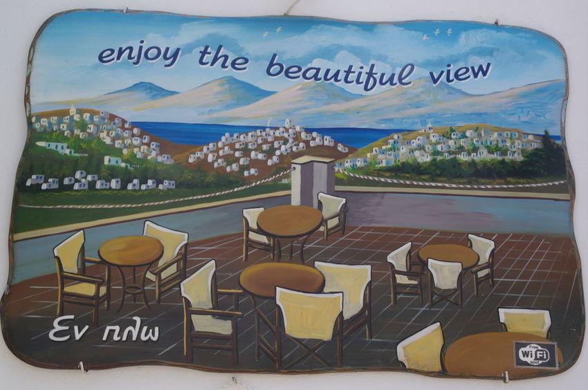 Griechenland Griechische Inseln Milos Island Close-up Communication Day Greece Milos No People Outdoors Text Werbeschild Western Script