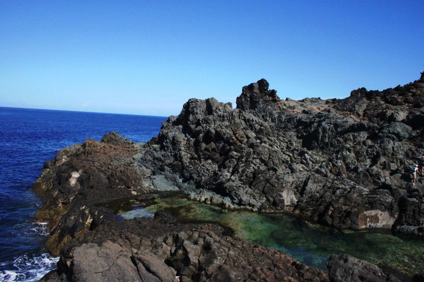 Cliffs Pantelleria Beauty In Nature Blue Clear Sky Day Geology Nature No People October 2015 Outdoors Rock Rock - Object Rock Formation Scenics Sea Sky Water