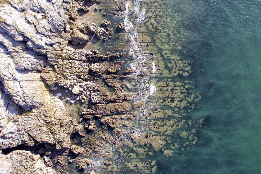 Langland Bay Rocks Drone  Langland Bay Beauty In Nature Coast Day Dronephotography Nature No People Outdoors Rocks Rocks And Water Sea Tranquility Water