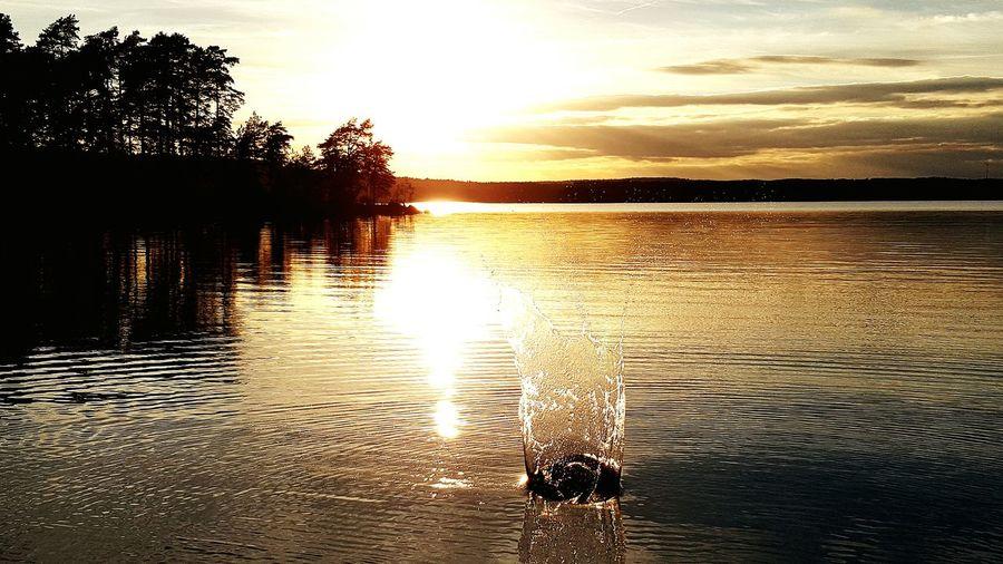 Stones & Water Kasta Sten Sunset_collection Sunset Silhouettes Sunset #sun #clouds #skylovers #sky #nature #beautifulinnature #naturalbeauty #photography #landscape Sweden Karlsborg Lake View