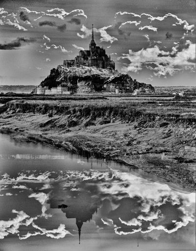 Mont Saint Michel (Normandie, France) Architecture Architecture Artistic Artistic Vision Black And White Dream Europe Expressionism France Journeys Landscape Monochrome Mont Saint Michel Moon No People Normandie Normandy Outdoors Reflection Sky Sky And Clouds Traveling Vision Water