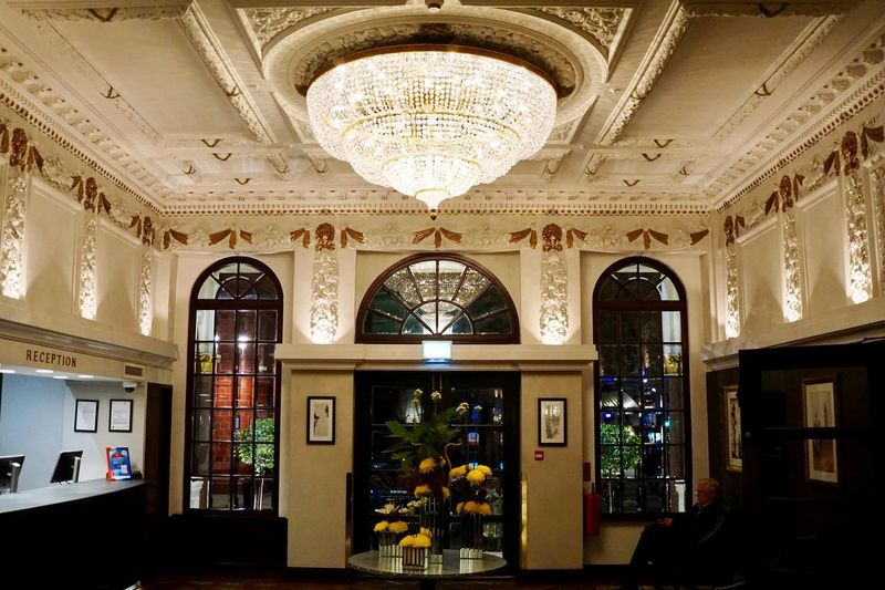 The Hotel Lobby (The Bailey's) London Hotel Lobby Hotel Lobby Interior Design Architecture Built Structure Arch Building Indoors  No People Window Lighting Equipment Ornate Place Of Worship Ceiling Decoration Chandelier Glass - Material Day Pattern Architectural Column Entrance Luxury