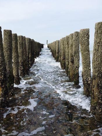 Fence Beach Waves Flood Sea Sand Learn & Shoot: Leading Lines