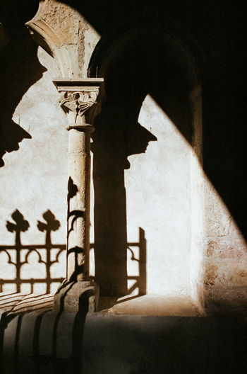 Arch Architectural Column Architecture Building Exterior Built Structure Close-up Cross Day Fujifilm History Indoors  Low Angle View Natura1600 No People Place Of Worship Religion Shadow Sky Spirituality
