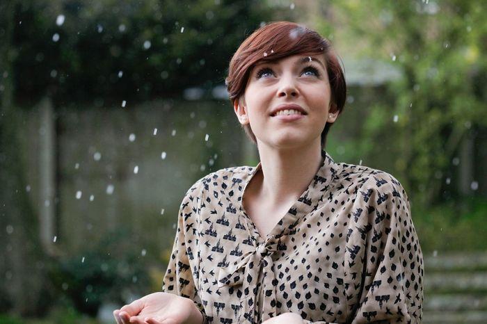 Rain Rainy Day Raining Showers Female Portrait Beauty Beautiful Girl
