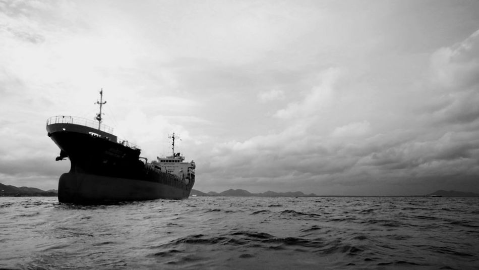 Big Shipping Boat Shipping Boat Boat In The Sea Boat Monochrome The OO Mission